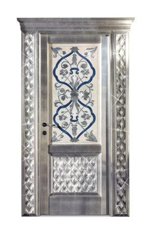Bakokko_Classic-Doors-Распашная-дверь-с-фреской-и-стразами_DR300SW_D1B